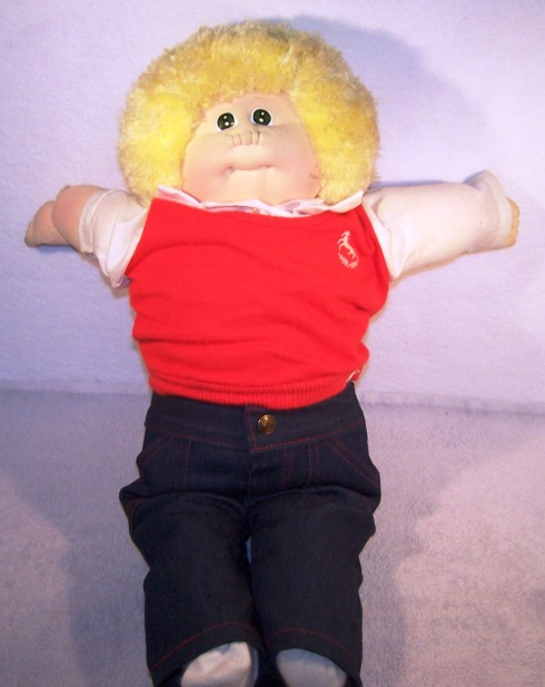 "1983 Xavier Roberts Little people 24"" blond boy doll"
