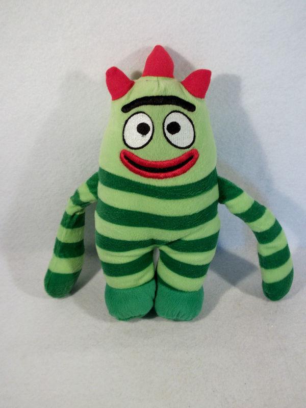 "2010 YO GABBA GABBA Brobee 11"" plush toy doll"